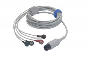 Mindray 6pin 5lead integrated ECG cable 0010-30-43116