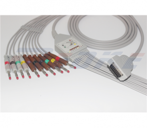 GE-Marquette EKG Cable With 10 Leadwires IEC