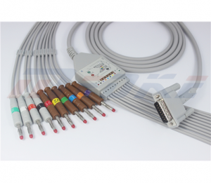 Philips EKG Cable With 10 Leadwires AHA