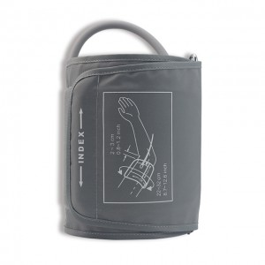 NIBP Cuff with bag, Nylon Grey, Single tube BE-102