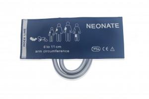 Neonate Blood Pressure Cuff, double tube , C6321