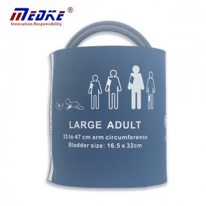 Large Adult NIBP Cuff,double tube,PU blue C6821