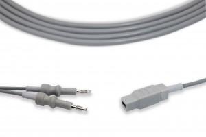 Bipolar 4.0 Banana Plug to European Condenser Clamp Cable CP1002