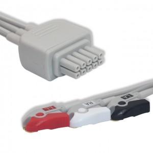 Mindray-Datascope ECG Leadwire 3 Lead,AHA, Pinch G311DT