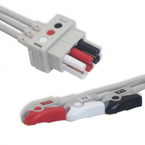 GE-Critikon ECG Leadwire 3 Lead,AHA, Pinch G311DX