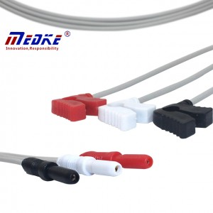 DN Neonate ECG Leadwires ,3 Lead, Clip, AHA G315DN