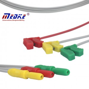 DN Neonate ECG Leadwires ,3 Lead, Clip, IEC G325DN