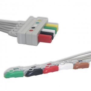 Mindray 0010-30-42727 Leadwire Set ECG 5lead, AHA, Pinch