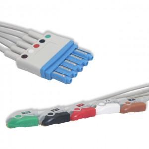 Philips ECG Leadwire 5 Lead,AHA, Pinch G511PH