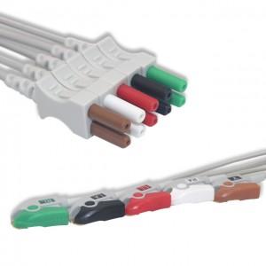 Spacelabs ECG Leadwire 5 Lead,AHA, Pinch G511SL