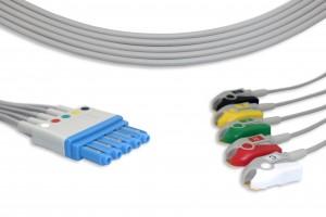 Philips 5 Qo'rg'oshin EKG Leadwire M1971A G521PH