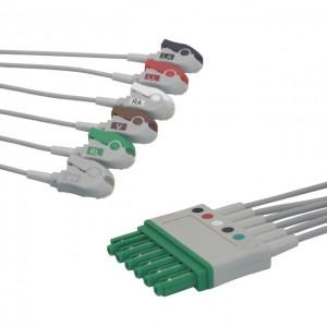 Dräger-Siemens 6P EKG Leadwire, 6Lead, Pinch AHA G611DR