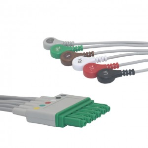 DRAGER 6 Lead SINGLE PIN ECG LEADWIRES (SNAP) ,MP03406 /MS16547