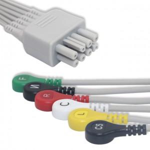 Nihon Kohden ECG Leadwire 6 Lead,IEC, Snap G622NK