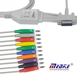 Philips 10 Olovo banana EKG kabel aha Din3.0 15 Pins Priključak K1113B