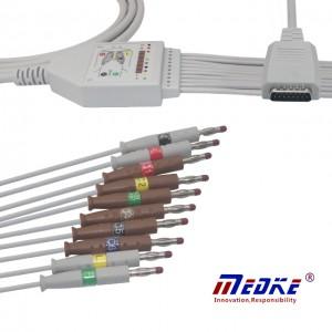 Mortara EKG Cable, IEC, Sefydlog Banana K1209B