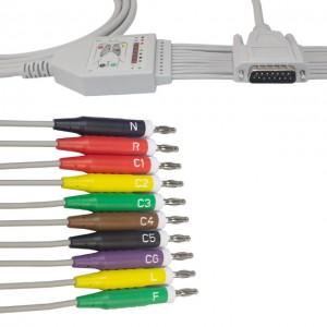 Nihon Kohden ECG Cable con 10 hilos conductores IEC K1210B