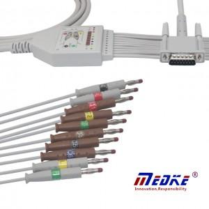 Philips M3703C Cyd-fynd 10Lead EKG Cable K1213B