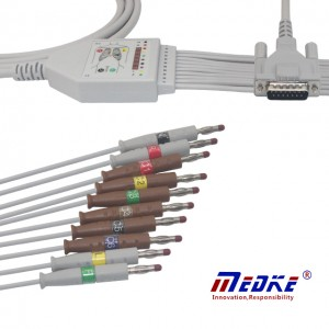 Schiller 10Lead Himoyalangan EKG Kabel K1214B