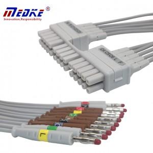 Mortara 10 Lead EKG Leadwires IEC , K124MT
