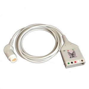 PHILIPS 12 PIN TO 5 LEAD DUAL PIN ECG TRUNK CABLE (M1520A)