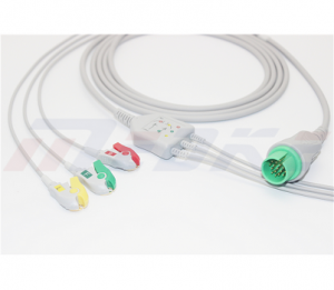 Spacelabs ECG Cable With 3 Leadwires IEC