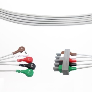 Philips 5 Qo'rg'oshin EKG Leadwire olinadigan M1625A