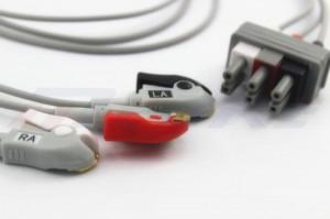 Philips M1603A / M1605A EKG Leadwire, 3lead, Mana
