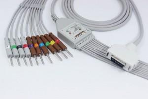 Fukuda Denshi 10 Lead Shielded EKG Cable