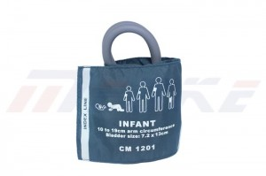 Infant NIBP Cuff, Double Tube With Bag, CM 1201, Reusable