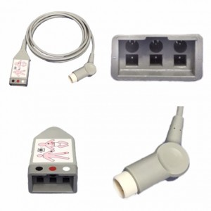PHILIPS 12 PIN TO 3 LEAD DUAL PIN ECG TRUNK CABLE (M1500A)